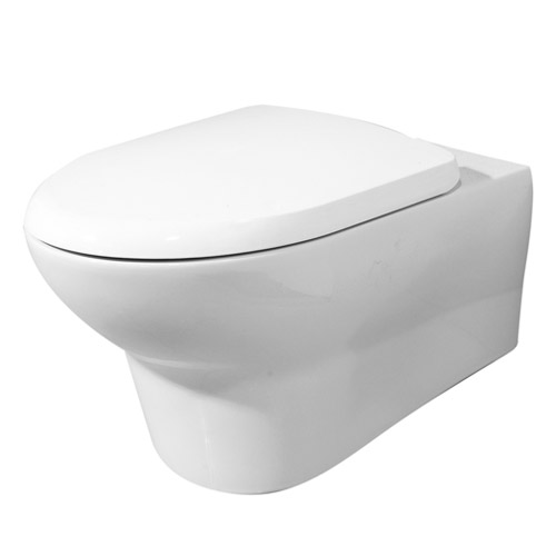 RAK - Infinity wall hung WC pan with soft close seat Large Image