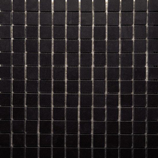 RAK - Lounge Black Porcelain Mosaic Unpolished Tile Sheet - 300x300mm - 7GPD57UP-MOS