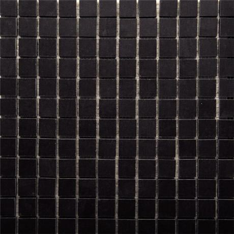 RAK - Lounge Black Porcelain Mosaic Unpolished Tile Sheet - 300x300mm - 7GPD57UP-MOS