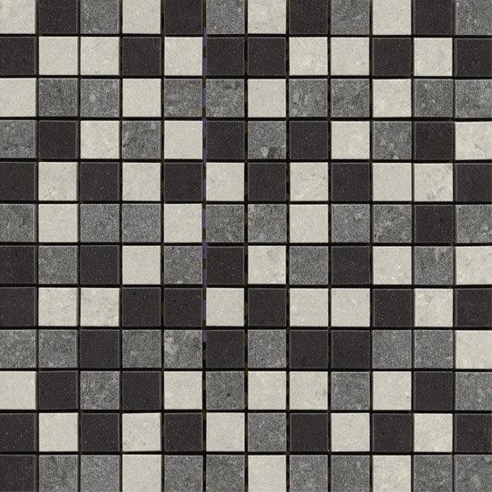 RAK - Lounge Mixed Porcelain Mosaic Unpolished Tile Sheet - 300x300mm - 7GPD-MOS-UP Large Image