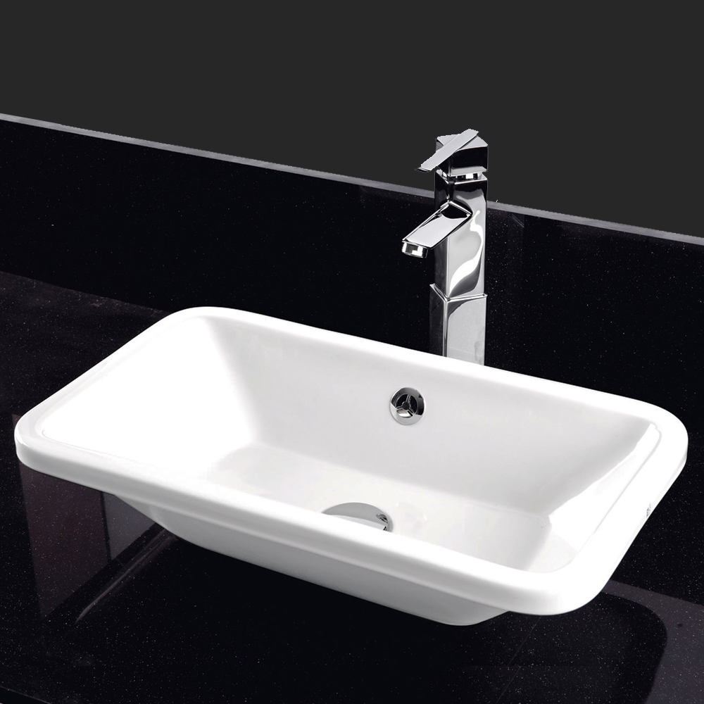 RAK Chameleon 560mm Counter Top Basin with Chrome Overflow Kit profile large image view 4