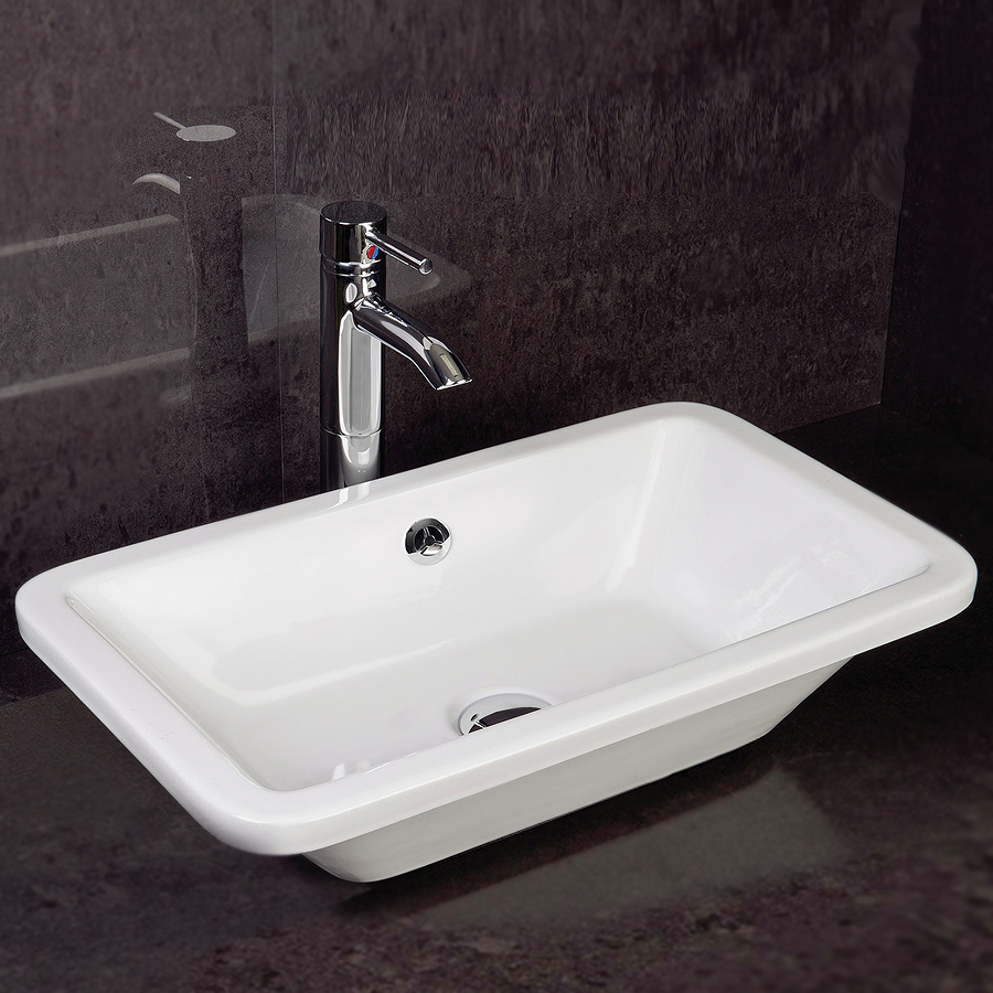 RAK Chameleon 560mm Counter Top Basin with Chrome Overflow Kit Large Image