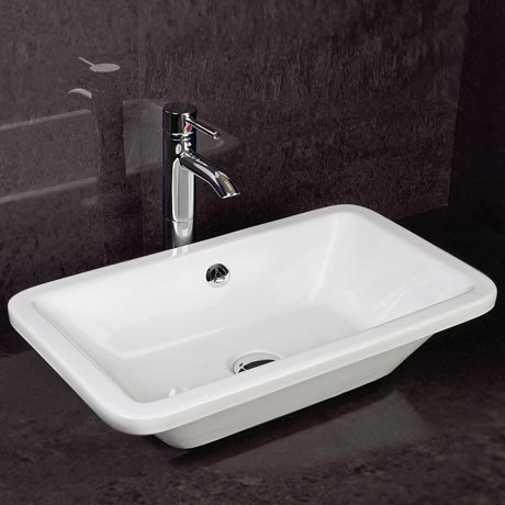 RAK Chameleon 560mm Counter Top Basin with Chrome Overflow Kit