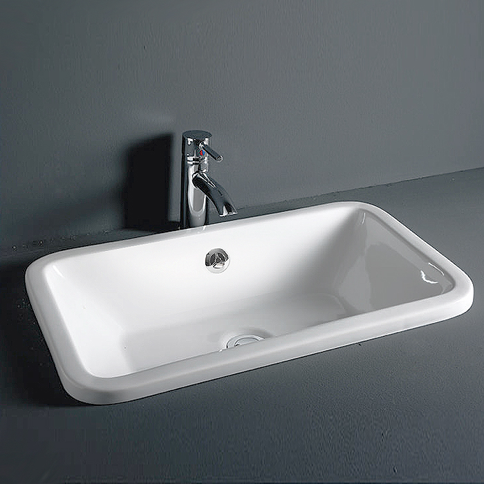 RAK Chameleon 560mm Inset Basin with Chrome Overflow Kit Large Image