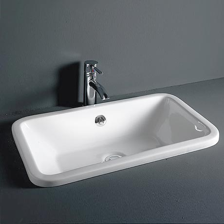 RAK Chameleon 560mm Inset Basin with Chrome Overflow Kit