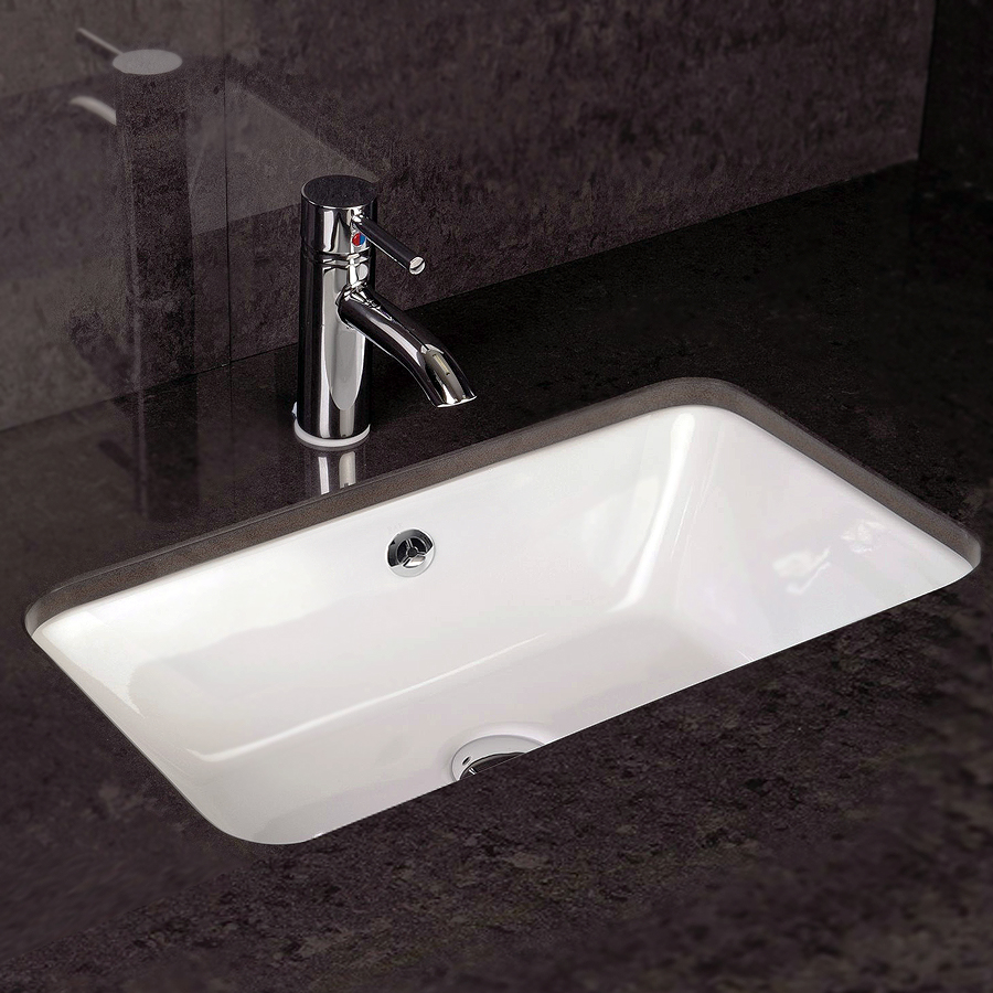 RAK Chameleon 560mm Under Counter Basin with Chrome Overflow Kit Large Image
