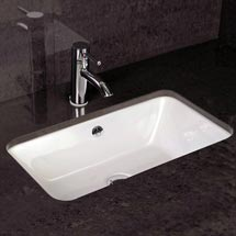 RAK Chameleon 560mm Under Counter Basin with Chrome Overflow Kit Medium Image