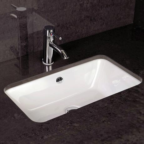 RAK Chameleon 560mm Under Counter Basin with Chrome Overflow Kit