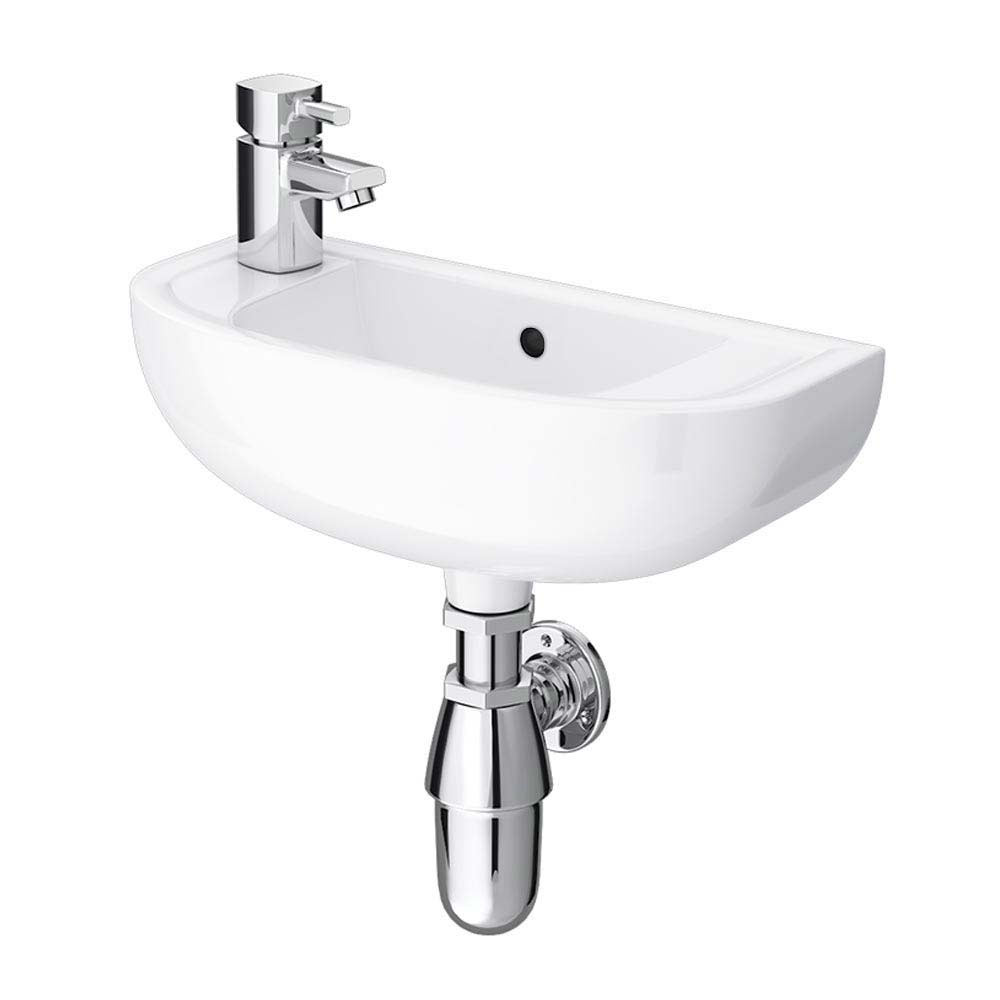 RAK Compact 45cm Slimline Basin - 1TH - Left or Right Hand Option profile large image view 2
