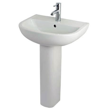 RAK Compact 55cm Basin & Pedestal