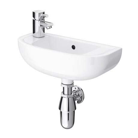 RAK Compact 45cm Slimline Basin - 1TH - Left or Right Hand Option