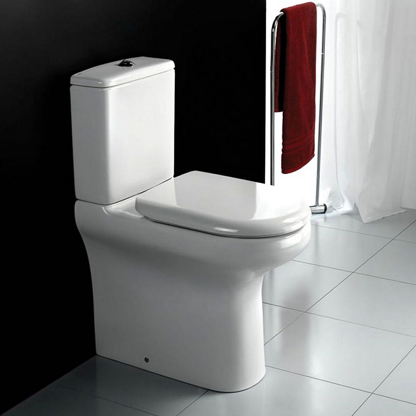 RAK Compact Deluxe Extended Height Close Coupled Toilet with Soft Close Seat Large Image
