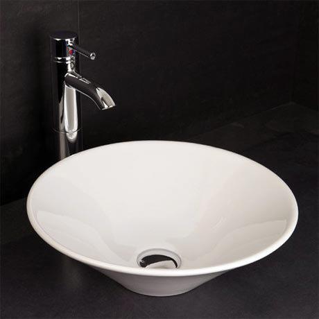 RAK - Cone Sit On Vanity Basin - No TH - CONBAS