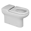 RAK - Compact Special Needs Extended Projection BTW Rimless Toilet - Seat Selection profile small image view 1