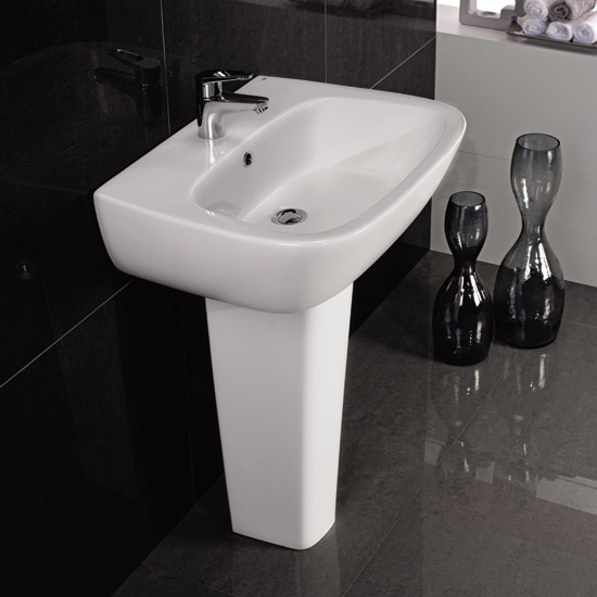 RAK - Elena 4 Piece Set - Close Coupled WC & 60cm Basin with Full Pedestal profile large image view 2