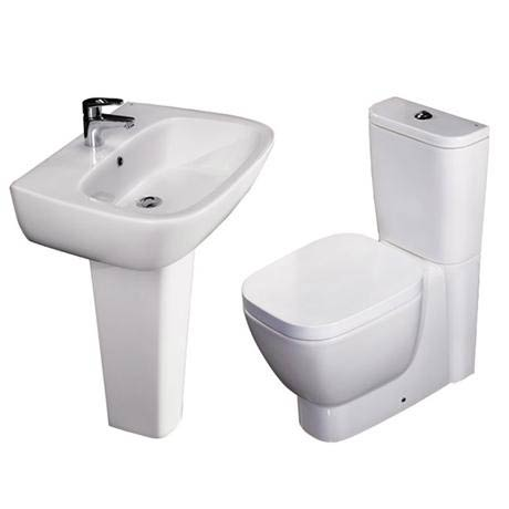 RAK - Elena 4 Piece Set - Close Coupled WC & 60cm Basin with Full Pedestal