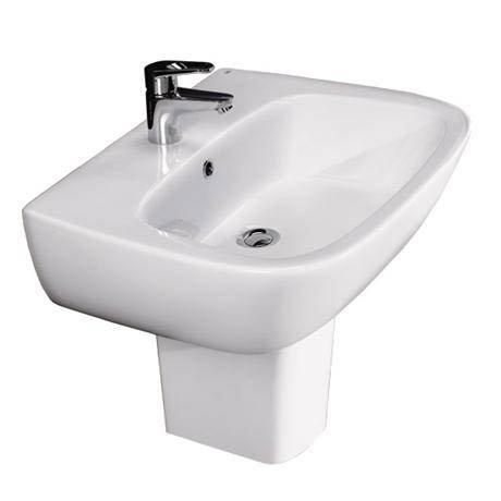 RAK - Elena wall mounted basin and half pedestal - 2 Size Options