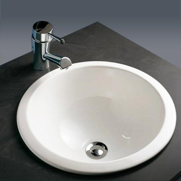 RAK Emma 400mm Inset Bowl Basin + Chrome Overflow Kit