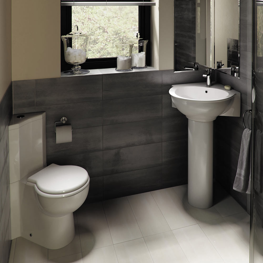 Corner Toilet : RAK Evolution 4 Piece Suite - Corner Toilet & Basin at Victorian ...