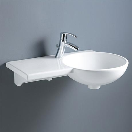 RAK Gina 1 Tap Hole Ceramic Basin with Shelf