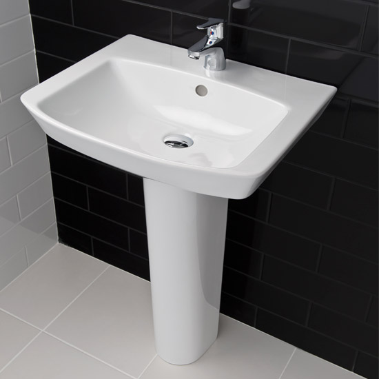 RAK - Highline 4 Piece Bathroom Suite - close coupled WC & basin with pedestal Feature Large Image