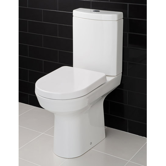 RAK - Highline 4 Piece Bathroom Suite - close coupled WC & basin with pedestal Standard Large Image