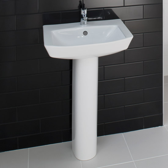 RAK - Highline 55cm basin 1th with full pedestal Feature Large Image