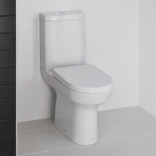 RAK - Highline Close Coupled Toilet with Soft Close Seat profile large image view 3
