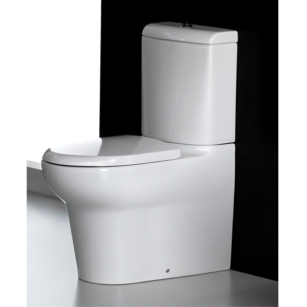 RAK - Infinity 4 Piece Set - Close Coupled WC & 60cm Basin with Full Pedestal Profile Large Image