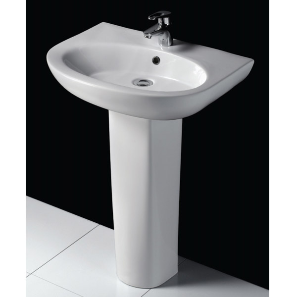 RAK - Infinity 4 Piece Set - Close Coupled WC & 60cm Basin with Full Pedestal profile large image view 3