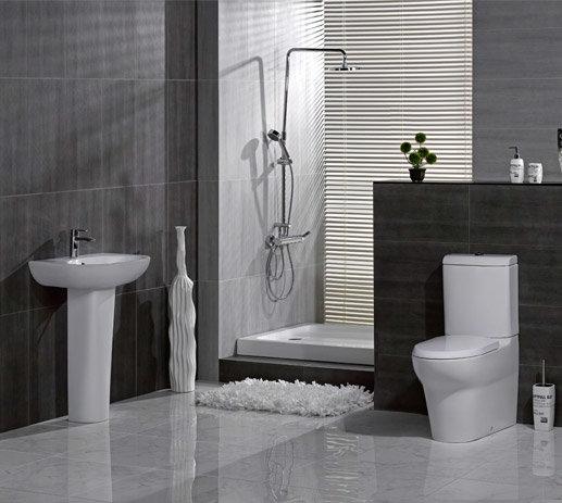 RAK - Infinity 4 Piece Set - Close Coupled WC & 60cm Basin with Full Pedestal Large Image