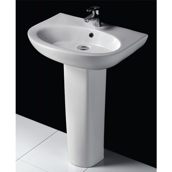 RAK - Infinity 60cm basin and full pedestal profile large image view 3
