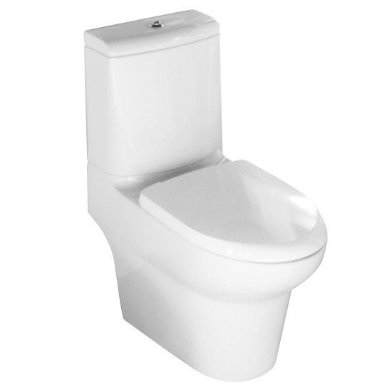 RAK - Infinity Close Coupled Full Access Toilet with Soft Close Seat profile large image view 1