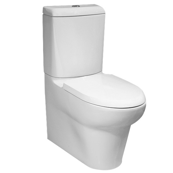 RAK - Infinity Close Coupled BTW Toilet inc Soft Close Seat Large Image