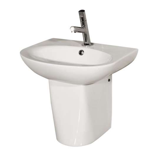RAK - Infinity 50cm basin and Half pedestal Large Image