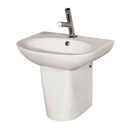 RAK - Infinity 50cm basin and Half pedestal