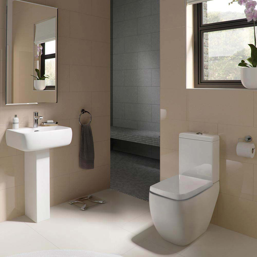 RAK Metropolitan Close Coupled Modern Toilet with Soft Close Seat profile large image view 2