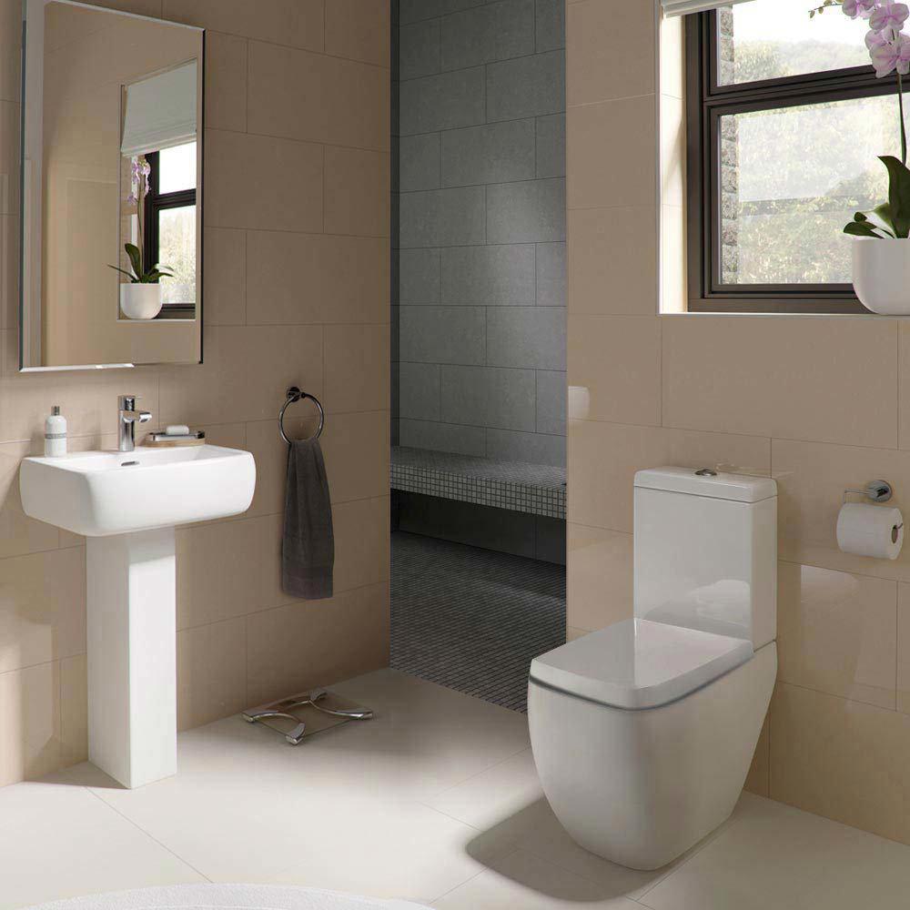 RAK Metropolitan Deluxe 4 Piece Suite - Deluxe WC & Basin Large Image