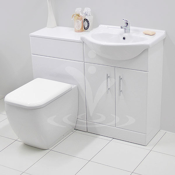 Rak Metropolitan 1050mm Vanity Unit Cloakroom Suite Gloss