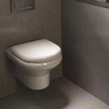 RAK NEW Compact Wall Hung WC with Soft Close Urea Seat Medium Image