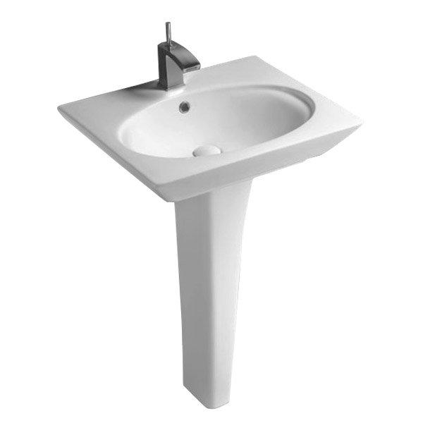 RAK Opulence 4-Piece Set -Toilet & 58cm Hers Basin - 1TH - White Profile Large Image