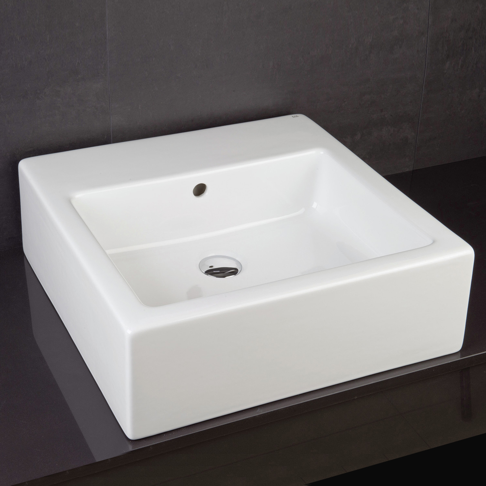 RAK Patrizia 50cm Square Counter Top Basin - PATRIZ Large Image