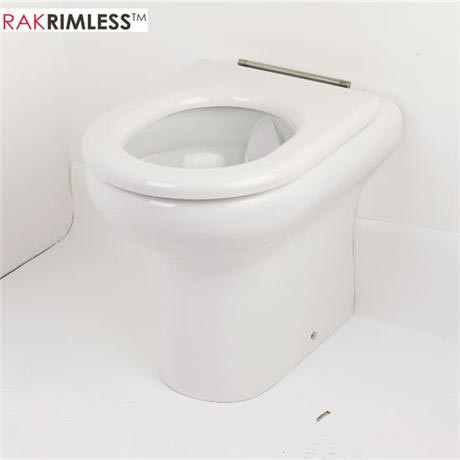RAK Compact Special Needs BTW Rimless Toilet with Ring Seat