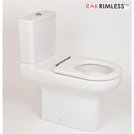 RAK - Compact Special Needs Extended Projection Rimless CC Toilet - Seat Selection