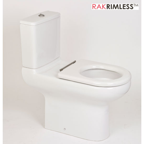 RAK - Compact Special Needs Extended Projection Rimless CC Toilet - Seat Selection Large Image