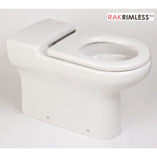 RAK - Compact Special Needs Extended Projection BTW Rimless Toilet - Seat Selection Large Image