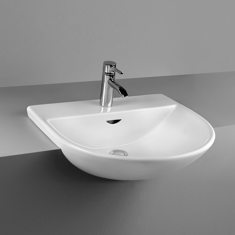 Rak Reserva Semi Recessed 55cm Basin At Victorian Plumbing Uk