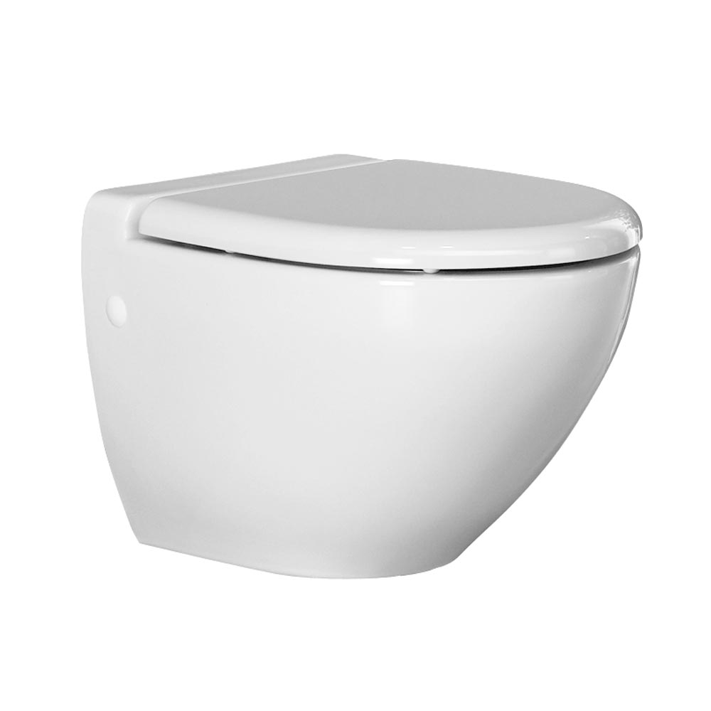 RAK Reserva Wall Hung Pan with Soft Close Urea Seat profile large image view 1