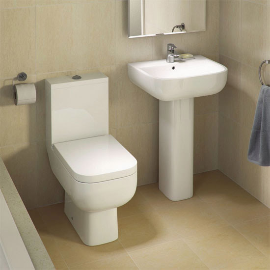 RAK Series 600 Bathroom Suite with Orlando Corner Bath - Left Hand Option Profile Large Image