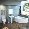 RAK Series 600 Bathroom Suite with Orlando Corner Bath - Left Hand Option profile small image view 1